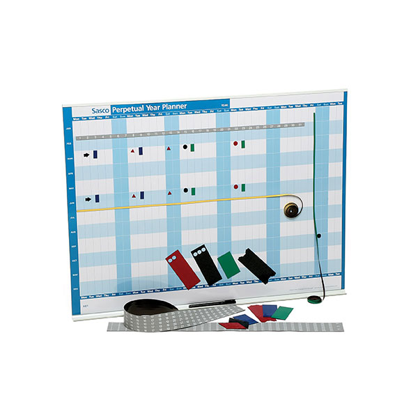 Product image: Sasco Perpetual Year Planner And Kit 917 X 610Mm Blue