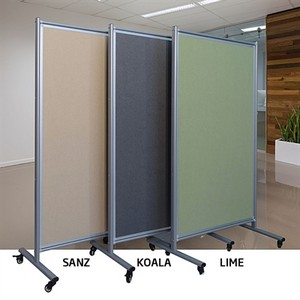 Product image: Visionchart Modulo Mobile Screen Double Sided Velour Fabric 1800 X 1000Mm Sanz