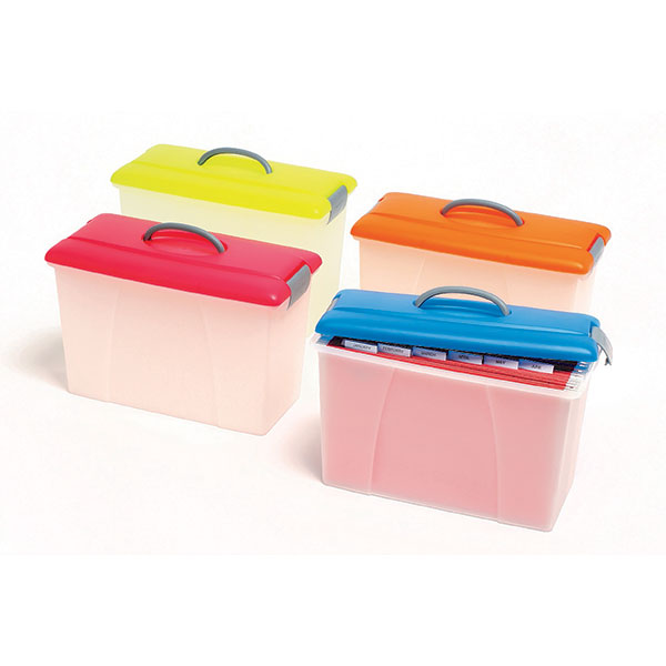 Product image: Crystalfile Carry Case Summer Cols Blue Lid / Clear Base