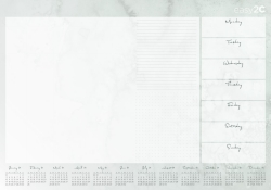 Product image: ESE-2C 600x420mm 2021 Desk Pad Calender