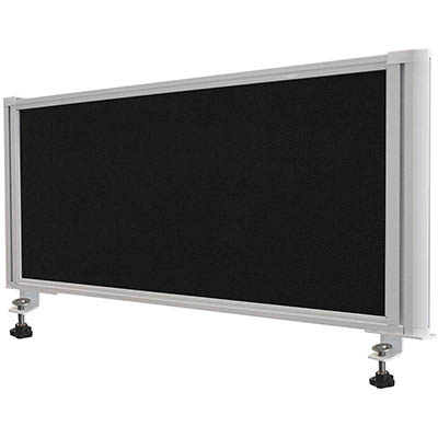 Product image: Visionchart Airo Desk Screen 1200 X 370Mm Pinnable Black Screen White Frame Clamp On