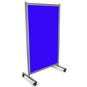 Product image: Visionchart Modulo Mobile Screen Double Sided Velour Fabric 1800 X 1000Mm Blue