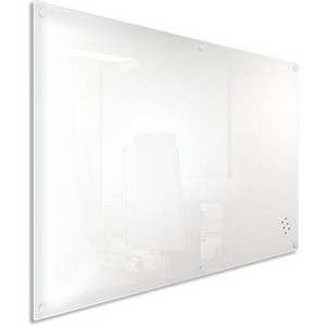 Product image: Visionchart Lumiere Magnetic Glassboard With Pen Tray 1500 X 1200Mm White