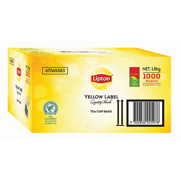 Product image: Lipton Tea Bags Yellow Label - (String & Tag)